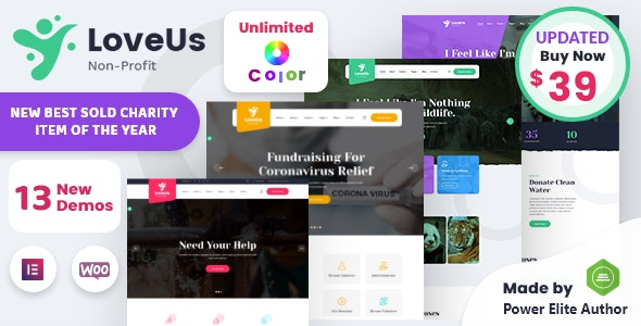 Loveus - NonProfit Charity WordPress Theme - Charity Nonprofit