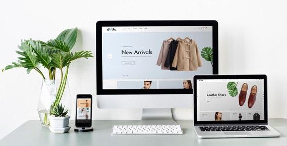 Blue - PSD Template - Fashion Retail