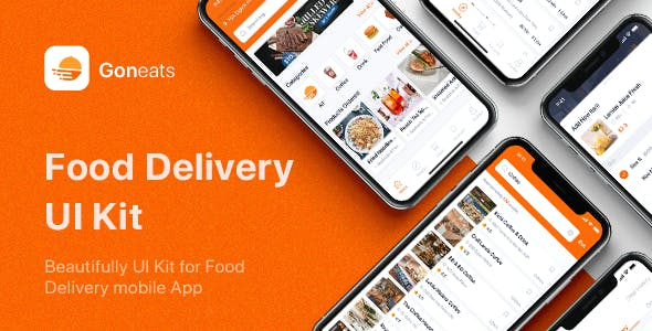 GonEats - Food Delivery UI Kit for Sketch
