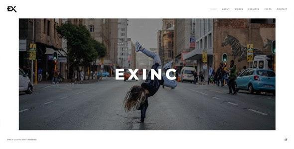 Exinc - Creative Personal Portfolio Template - Portfolio Creative