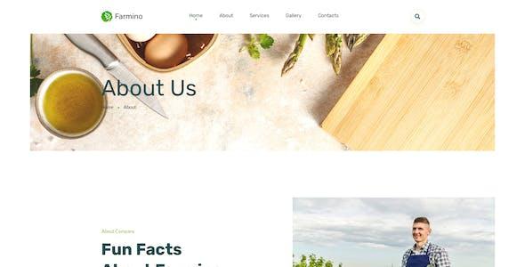 Farmino – Organic Food Template for XD