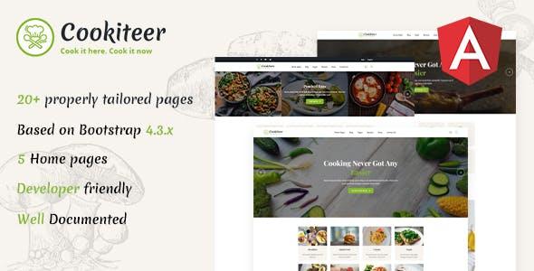 Cookiteer - Food & Recipe Angular Template