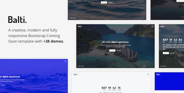 Download Balti - Bootstrap Coming Soon Template