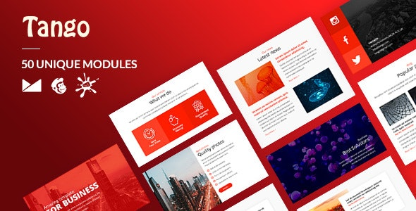 Tango Email-Template + Online Builder - Newsletters Email Templates