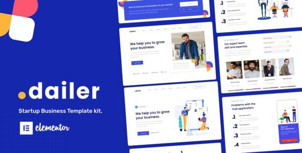 Dailer - Startup Elementor Template Kit