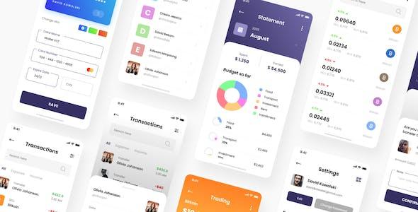 Kripton - Crypto Wallet iOS App PSD Template