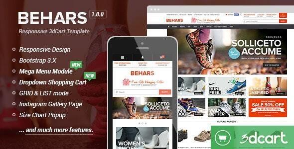 Behars - Responsive 3dCart Template - 3dcart eCommerce