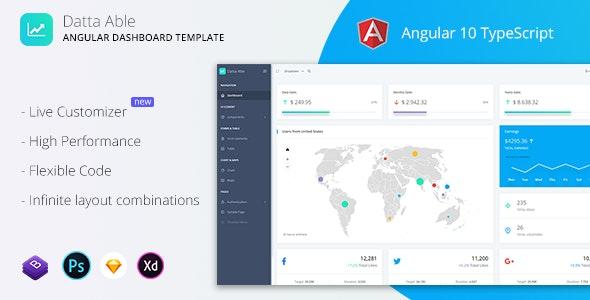 Datta Able - Angular 10 Admin Template - Admin Templates Site Templates