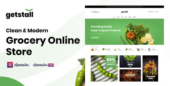 Getstall - Grocery Store Elementor Template Kit