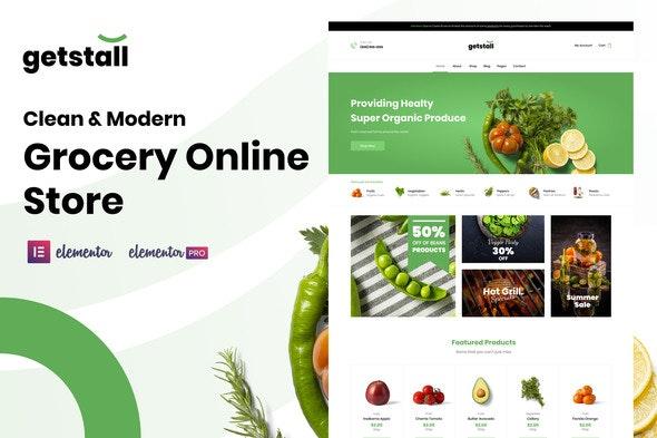 Getstall - Grocery Store Elementor Template Kit - Shopping & eCommerce Elementor
