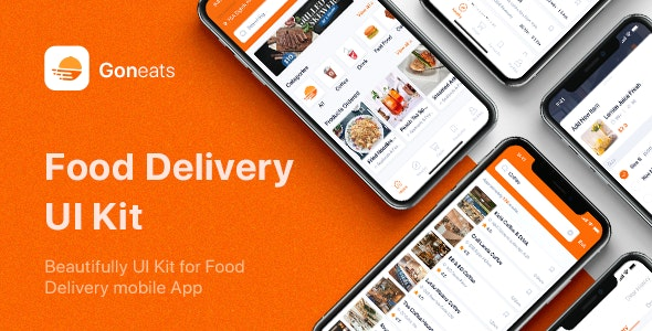 GonEats - Food Delivery UI Kit for Figma - Figma UI Templates