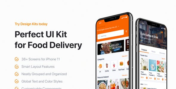 GonEats - Food Delivery UI Kit for Figma