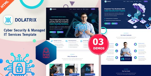 Download Dolatrix - Cyber Security & Managed IT Services Template
