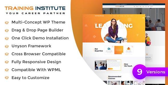 E learning - Education & Training Institute WordPress Theme