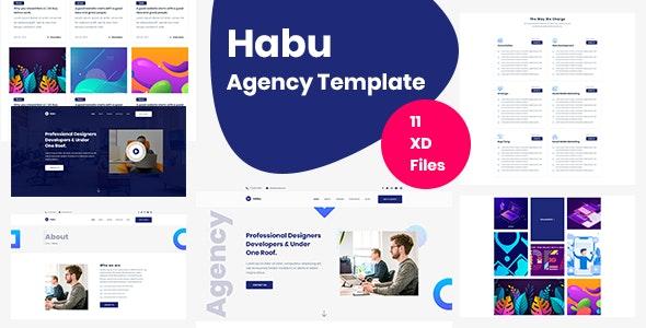 Habu - Agency Adobe XD Template - Corporate Adobe XD
