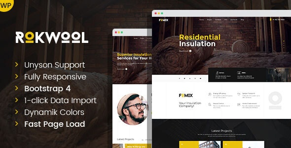 Rokwool - WordPress theme for House Insulation - Business Corporate