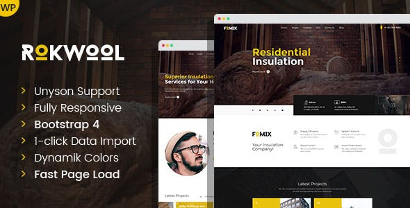 Rokwool - WordPress theme for House Insulation