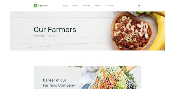 Farmino – Organic Food Template for Figma