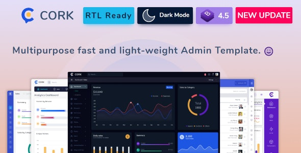 Cork - Responsive Admin Dashboard Template - Admin Templates Site Templates