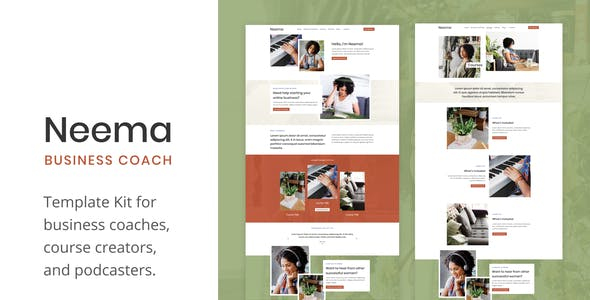 Business Coach Website Templates From Themeforest