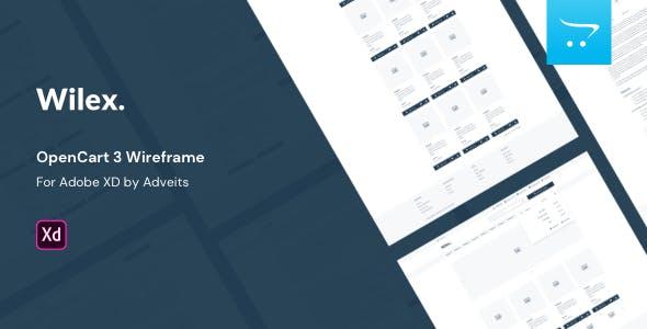 Wilex - OpenCart 3 Wireframe for Adobe XD