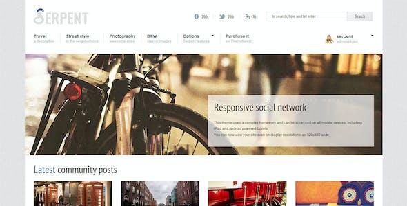 Serpent - Responsive Social Network Theme
