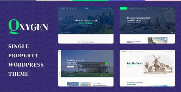 Qxygen - Single Property Real Estate WordPress Theme