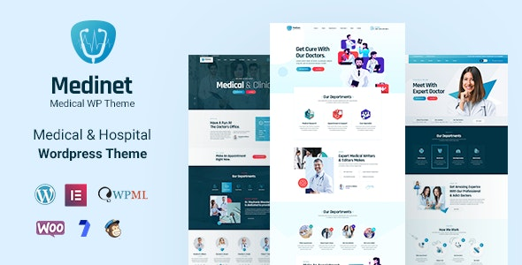 Medinet v2.0.1 – Medical and Health WordPress Theme +RTL