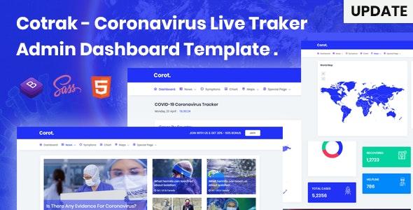Cotrak - Coronavirus Live Traker Admin Dashboard Template - Admin Templates Site Templates