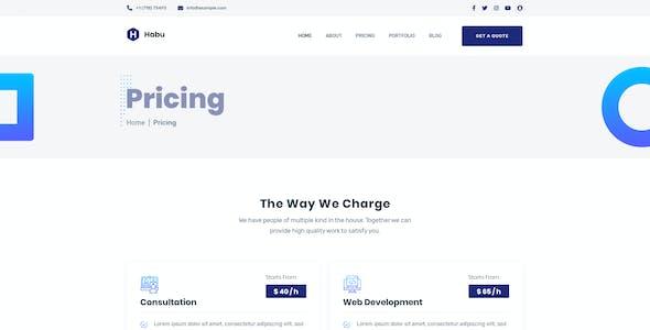 Habu - Creative Agency PSD Template