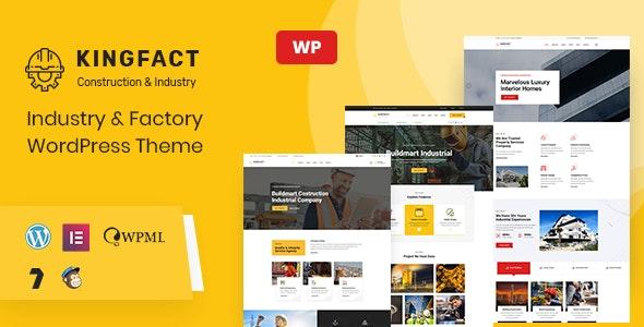 Kingfact | Industry & Factory WordPress Theme + RTL - Business Corporate