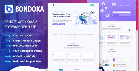 Bondoka - Remote Work Software Agency Template