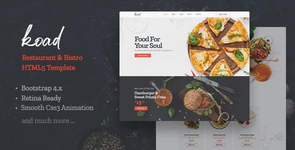 Koad - Restaurant & Bistro HTML Template