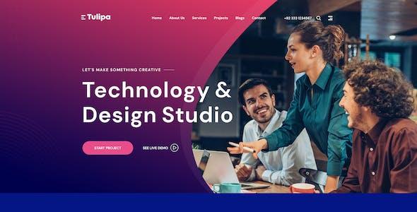 Tulipa - Multipurpose Portfolio & Agency PSD Template
