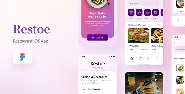Restoe - Restaurant Food App Design Figma