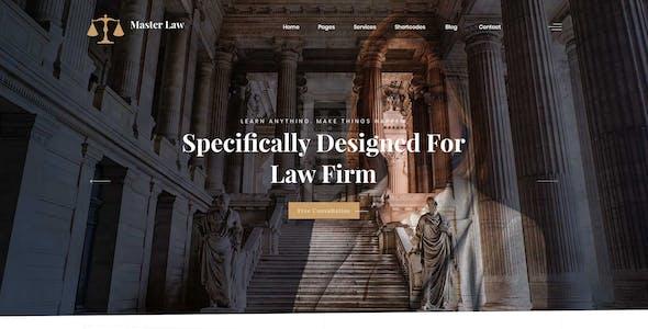 Masterlaw - Attorney PSD Template