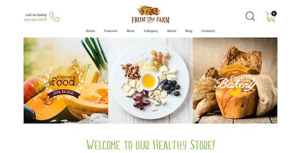 A-Mart - Organic Products Shop WordPress Theme
