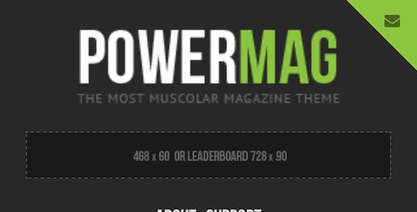 PowerMag: Bold Magazine and Reviews WordPress Theme