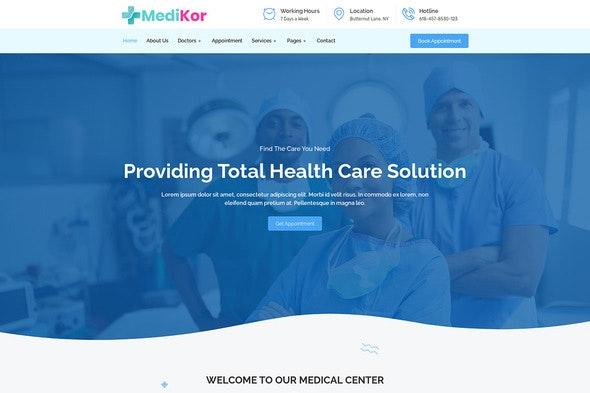Medikor - Medical Healthcare Elementor Template Kit - Health & Medical Elementor