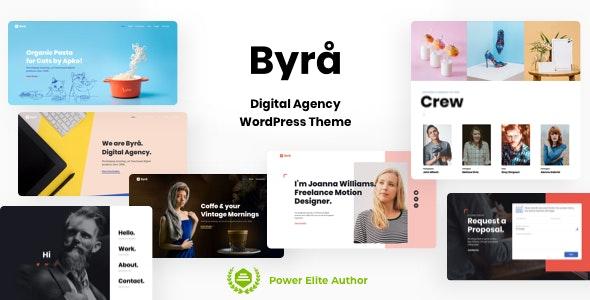 Byra - Digital Agency WordPress Theme - Portfolio Creative