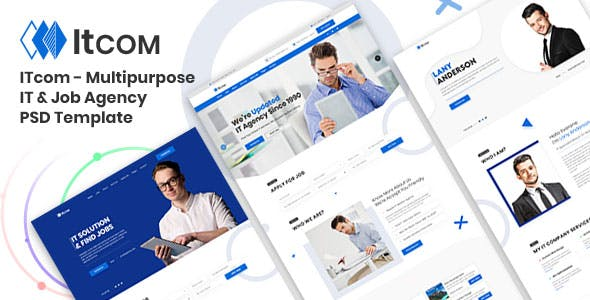 ITcom - Multipurpose IT & Job Agency PSD Template