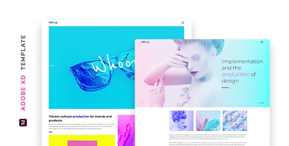 Whoop – Creative Agency Template for XD - Creative Adobe XD