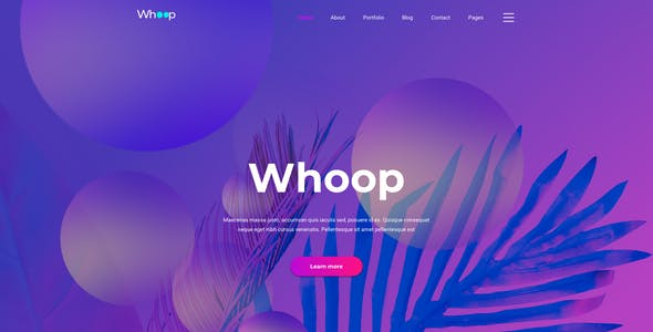 Whoop – Creative Agency Template for XD