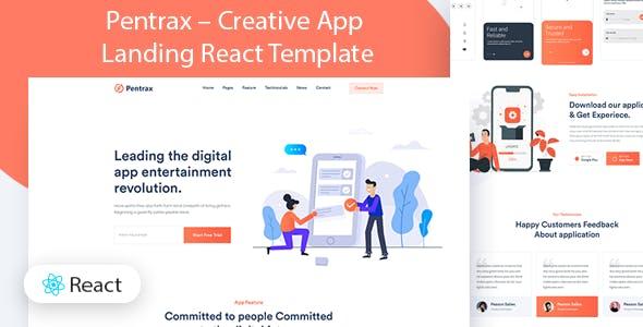 Pentrax - Creative App Landing React Template