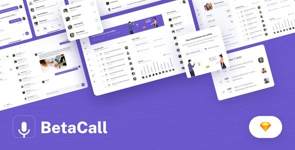 BetaCall - UI Kit for Communication Dashboards and Apps - Business Corporate