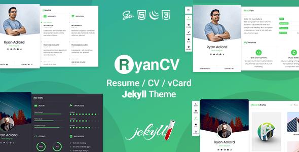 Download RyanCV - Resume CV & vCard Jekyll Theme