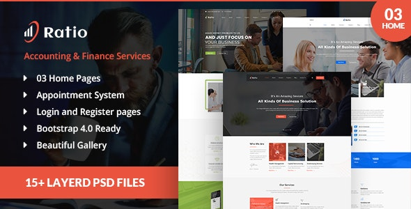 Ratio account services PSD template - Business Corporate