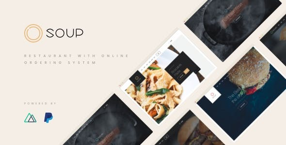 Soup - NuxtJS / VueJS Restaurant with Online Ordering System Template