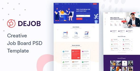 DeJob - Job Board PSD Template - Business Corporate