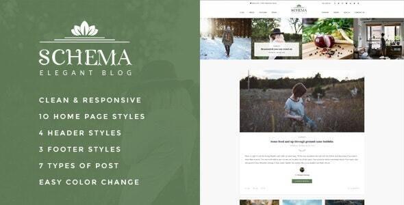 Schema Elegant Responsive WordPress Blog Theme - Personal Blog / Magazine